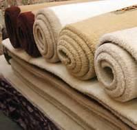 Clean carpet in rolls
