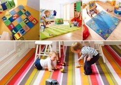 Children playing on clean carpet