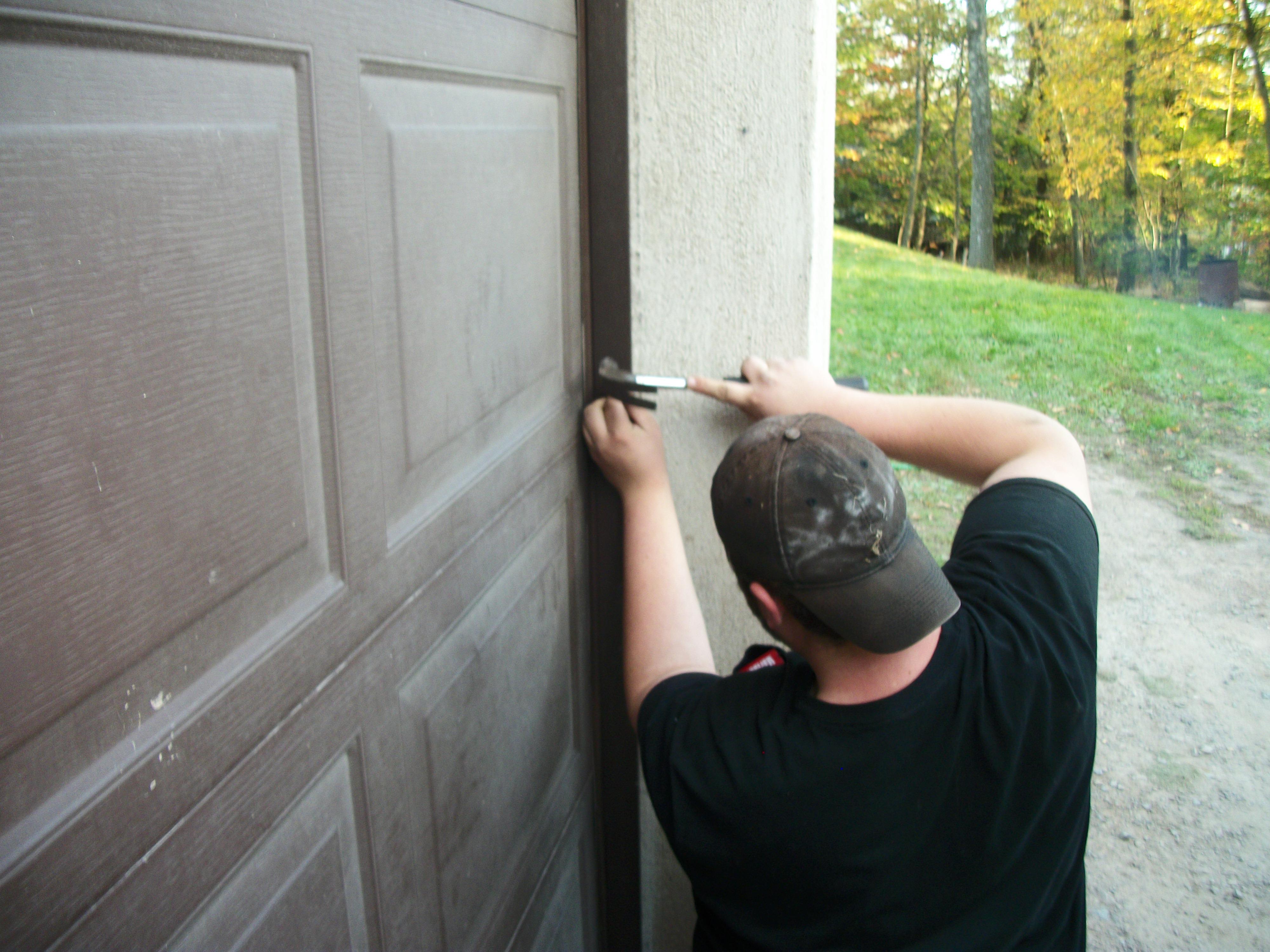 Garage door side seals - Side Garage Door Deals Being Installed