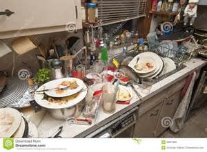 Sink overflowing with dirty dishes